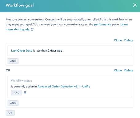 Contact Workflow Goal for Unenrollment