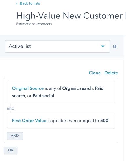 High-Value New Customer Retarget 1 First Threshold