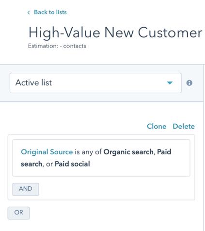 High-Value New Customer Retarget 1 Source