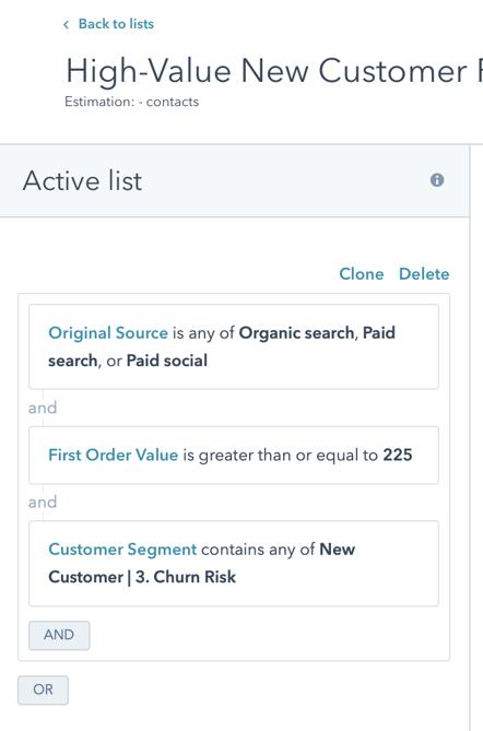 High-Value New Customer Retarget 3a New Customer Criteria