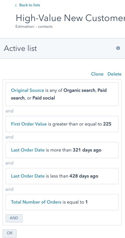 High-Value New Customer Retarget 3b Raw Customer Criteria