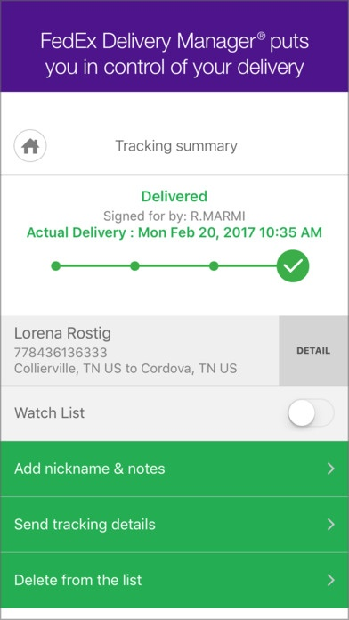 delivery email example