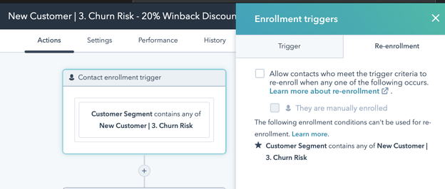 New Customer Churn Winback Workflow 4 Alt Trigger