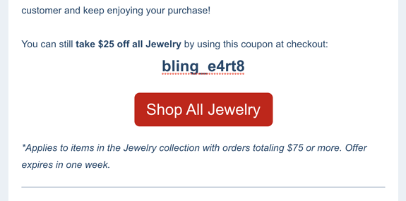 Example Coupon Email Block