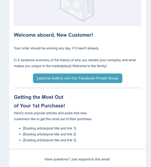 Example New Customer Template