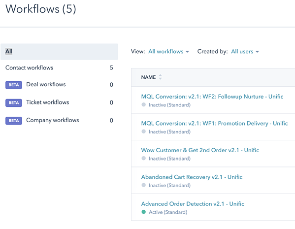 hubspot-ecommerce-unific-workflows