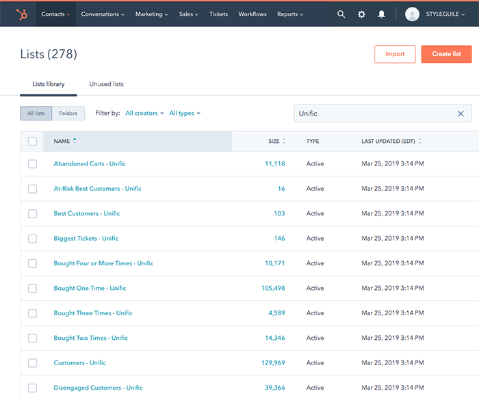 hubspot-screenshot-lists